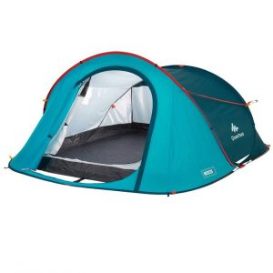 Participants will be hosted by two in a 3 person tent with two separate airbeds